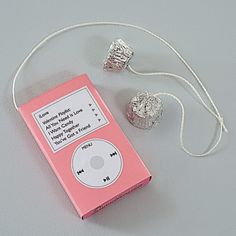 Rock Candy - One box of conversation hearts and 2 mini peanut butter cup to look like an iPod.