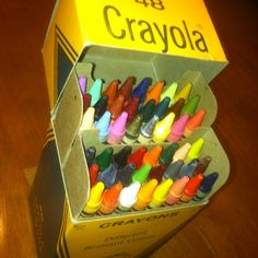 Vintage 1970's Unused / Mint / New Old Stock Box of Crayola Crayons we bought at an Antique Store :)