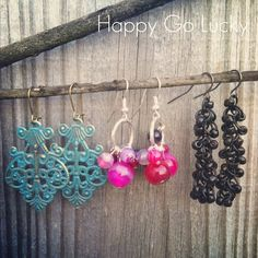 Pinterest DIY Home Decor Projects   Pinterest inspired earrings   DIY, Home Crafting, Decor and Design