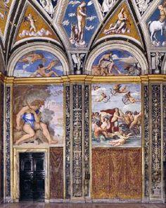 View of the Loggia di Galatea. 1511. Fresco. Villa Farnesina, Rome, Italy.
