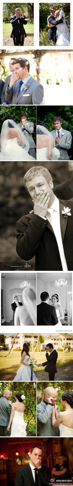first glance before the wedding pictures. too cute