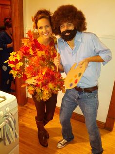 Bob Ross Outfit Collection happy halloween through the front door couple halloween Bob Ross Outfit. Here is Bob Ross Outfit Collection for you. Bob Ross Outfit bob ross costume carbon costume diy dress up guides for. Halloween 2018, Tree Halloween Costume, Holidays Halloween, Adult Halloween, Happy Halloween, Halloween Ideas, Couples Halloween Costumes For Adults, Halloween Circus, Holiday Costumes