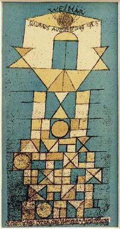 Paul Klee - Die erhabene Seite, Weimar Bauhaus-Ausstellung 1923