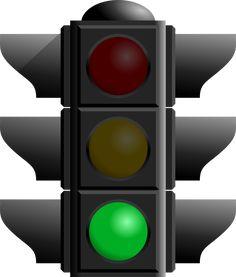 Traffic light transparent image