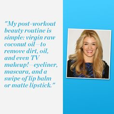 Daphne Oz simplified her post-gym beauty routine to save time. 5 more shape-up shortcuts from busy, successful women!   http://www.womenshealthmag.com/fitness/quick-fitness-tips?cm_mmc=Pinterest-_-WomensHealth-_-Content-Fitness-_-ShapeUpShortcuts