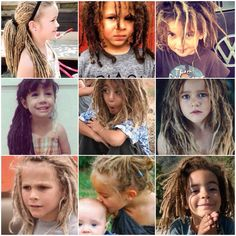 Kids, children with dreadlocks, locs
