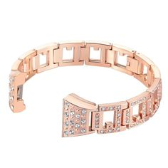 Fitbit Charge 2 Replacement Metal Bracelet Adjustable Band Rhinestone Rose Gold | Sporting Goods, Fitness, Running & Yoga, Fitness Technology | eBay!