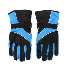 Winter outdoor Mountain Sports snowboard Skiing Waterproof Gloves & Mittens Sky Blue sports   Men's Gloves cool menswear accessories  products website sale store shop buy online ideas gift style 2017  Guys Awesome cold weather