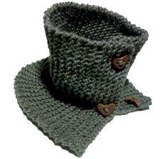 DIY Bufanda de lana cerrada con botones   Handbox Craft Lovers   Comunidad DIY, Tutoriales DIY, Kits DIY Crochet Hats, Knitting, Diy, Fashion, Wool Scarf, Knitted Scarves, Cowls, Beanies, Scarf Styles