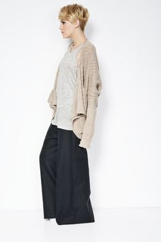 Wide Linen Pants / Black Pants / Handmade Pants / Comfortable High Fashion / Loose Fitting Pants / marcellamoda - MP116
