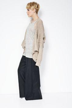 Wide Linen Pants / Black Pants / Handmade Pants / Comfortable High Fashion / Loose Fitting Pants / marcellamoda - MP116