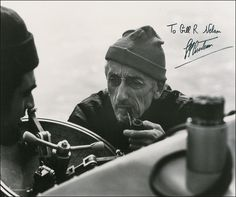 Jacques Cousteau. One of my first heroes. Love his dedication to the ocean and education