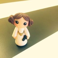 """""""When you're friend and boss turns 30, you make her a little Princess Leia figurine ✨✨ @shes.spiffing @spiffingjewelry #cremedelagems #princessleia"""""""