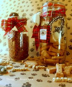 mason jar gifts for pets, crafts, mason jars, seasonal holiday d cor, I filled two and three quart jars with items for cats and dogs such as food dry bones chew toys and play mice