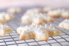Lemon Shortbread Cookies with Lemon Glaze http://theheritagecook.com/lemon-shortbread-cookies-with-lemon-glaze/