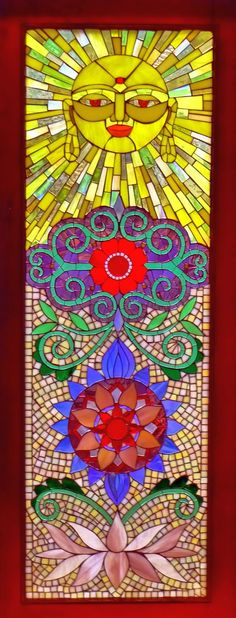 Window of Compassion - stained glass by Jennifer Kuhns, via Behance