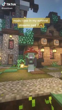 Minecraft House Plans, Minecraft Cottage, Easy Minecraft Houses, Minecraft Plans, Minecraft House Designs, Minecraft Decorations, Amazing Minecraft, Minecraft Tutorial, Minecraft Blueprints