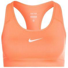 Nike Performance NEW PRO BRA Sports bra ($29) ❤ liked on Polyvore featuring activewear, sports bras, tops, sport, underwear, orange, nike activewear, nike, nike sportswear and sports bra