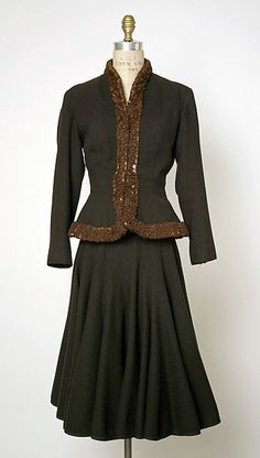 Suit Designer: Jacques Fath (French, 1912–1954) Design House: House of Jacques Fath (French, founded 1937) Date: ca. 1948 Culture: French Medium: wool, fur