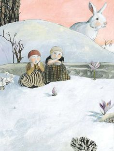 """""""Mom always says that."""" Daniella made a face. """"If you don't finish your borschdt, the giant winter bunny will eat you. Art And Illustration, Illustration Courses, Illustration Mignonne, Illustrations Posters, Anna, Art Fantaisiste, Kunst Online, Snow Art, Art Story"""