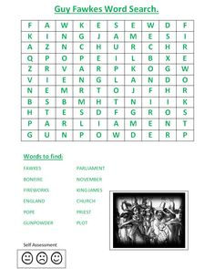 This wordsearch activity is idea for a starter or plenary to consolidate knowledge.