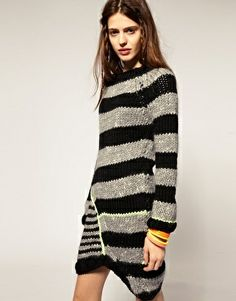 Cooperative Designs Chunky Knit Dress with Neon Trim €775.61.