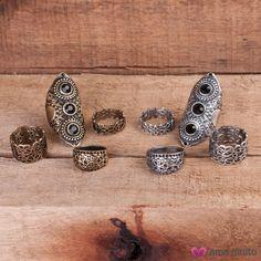 Anéis estilo Boho! #bohochic #bohostyle #anelgrande #anelboho #accessories #trend