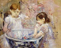 Berthe Morisot  Children at the Basin (1886)  Portrait of Julie Manet, the Artist's Daughter, andJeannie Gobillard