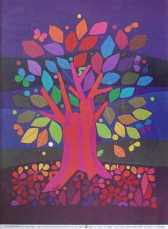 """""""dendriform"""" by jean ray laury from an exhibit of stitchery at the nut tree, vacaville, california, 1978 Tree Of Life Art, Tree Art, Expressive Art, Painted Paper, Art Plastique, Teaching Art, Elementary Art, Art Auction, Art Lessons"""