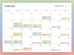 Calendar Widget by Kyril Kulikov #Design Popular #Dribbble #shots