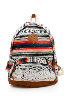 Tribal stripe backpack is perfect for summer beach days