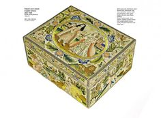 The Bond family Stumpwork Box, c.1695. Dorset county museum