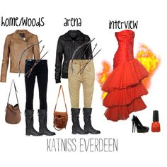 How to make the hunger games katniss everdeen halloween costume katniss everdeens style by acciolindsey on polyvore solutioingenieria Gallery