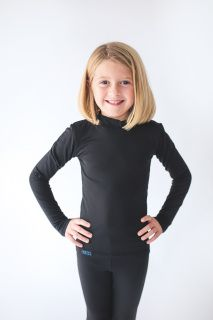 """Children's Multi-Purpose Heater Shirt  (Cold Weather Shirt, Rash Guard or Base Layer)  Our """"Heater Shirts"""" are great for water skiing and water sports, and to be worn alone or as base layer for cold weather activities.  They have great stretch, are soft inside and are very warm and durable.  Details: --Wicks away moisture to keep you warmer and drier  --Soft and cozy next to skin --4-way stretch --Black --Made in the USA Buy with confidence. Our products are made to last!  For additional…"""