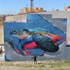 by Xav for Mar Menor Street Art Festival, Los Alcazares 2016