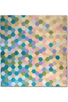 Dhurrie designer series - honeycomb flat-weave rug