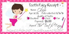 O's first lost tooth – Tooth Fairy Receipt – Free printable Tooth Fairy Note, Tooth Fairy Receipt, Tooth Fairy Doors, Tooth Fairy Pillow, Lost First Tooth, Tooth Fairy Certificate, Loose Tooth, Fairy Gifts, Free Printables