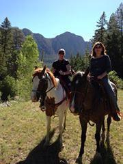 Horseback riding, Chama, New Mexico