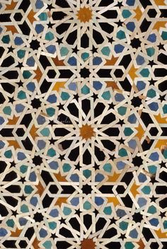 Stock Photo : Bou Inania Madrasa tilework from Century, Fez, Morocco Tile Patterns, Pattern Art, Textures Patterns, Islamic Art Pattern, Arabic Pattern, Arabic Design, Arabic Art, Motifs Islamiques, Moroccan Art