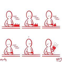 Chop chop chop : #WebcomicZ 042 : #ClipStudioPaint  #Cintiq  #: #webcomic #comics #comicdiario #dailycomic #comic #tebeo #illustration #draw #sketch #drawing #art #artistsoninstagram #dibujodiario #cute #adorable #digital #digitalpainting #digitalart : #DailySketch 773 #chop #cortar #cut #blood #sangre