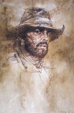 The Missouri Breaks - Drawing/illustration art by Bob Peak