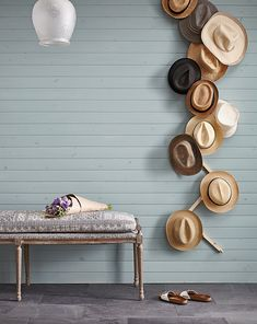 Decorative Hat Rack Ideas You Will Ever Need diy hat rack cowboy hat rack baseball hat rack hat rack ideas wall hat rack hat rack standing hat display Wall Mounted Hat Rack, Wall Hat Racks, Diy Hat Rack, Hat Hanger, Hat Hooks, Baseball Hat Racks, Hygge, Cowboy Hat Rack, Hanging Hats