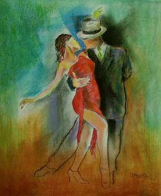 . Tango Art, Dancing, Creative, Bench Seat, Paint, Drawing Drawing, Dance