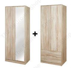 Monaco Tall 4 Door 2 Drawer Mirrored Wardrobe