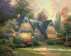 Thomas Kinkade - Winsor Manor  1996