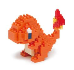 Charmander Nanoblock Create works of animal art with nanoblock! Gotta catch 'em all with this nanoblock Pokemon! These micro-sized building blocks will enable… Pokemon Lego, Pokemon Charmander, Pokemon Gifts, Pikachu, Cool Pokemon, Pokemon Fan, Pokemon Comics, Pokemon Fusion, Handmade Crafts