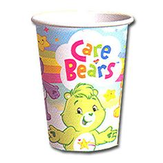 Care Bears Cup 9 oz cups, includes 8 in a package http://www.thepartystuff.com.sg/