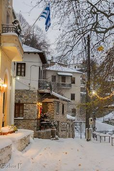 Village in Pilio, Thessaly prefecture, Volos, Greece Greece Today, Greece Time, Greek Isles, Paradise On Earth, Winter Photos, Archaeological Site, Greece Travel, Athens, Beautiful Places