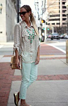Mint and Gold   Trip to North Carolina @Gap pants