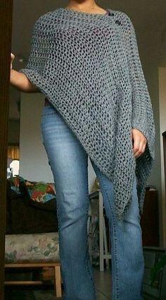 Crochet, poncho irregular